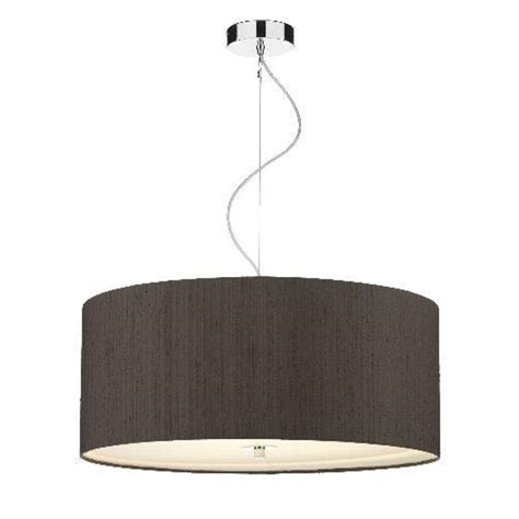 Large Pendant Lighting Fixtures Ceiling Pendant Light With Nutmeg Brown Silk Drum Shade With Drop