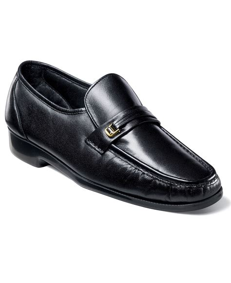 florsheim loafers for florsheim riva moc toe loafers in black for lyst