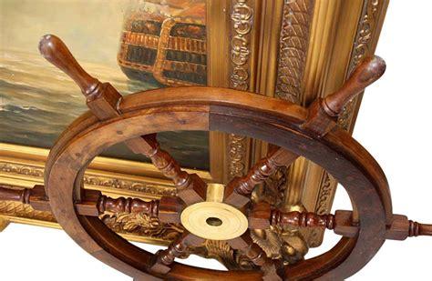 volante della nave volante della nave legno ottone ruota barca 76 centimetri