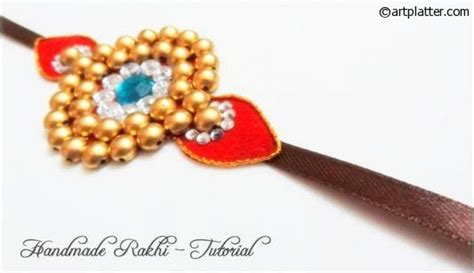 How To Make Handmade Rakhi At Home - handmade rakhi tutorial platter