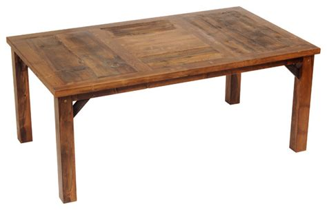 reclaimed barn wood dining table wyoming collection