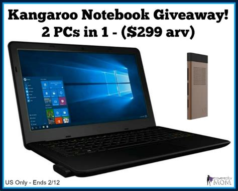 Free Laptop Giveaway 2017 - kangaroo notebook 2 pcs in 1 arv 299 giveaway it s free at last