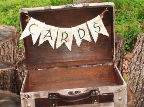 shabby koffer wedding card box shabby chic suitcase wedding card