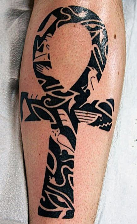 tribal ankh tattoo 50 ankh designs for ancient