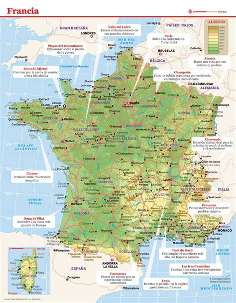 imagenes satelitales de francia mapa de francia lonely planet