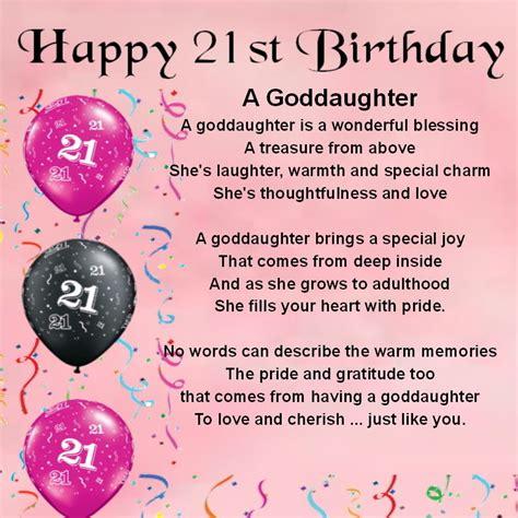 Happy Birthday Wishes For My Goddaughter Personalised Coaster Goddaughter Poem 21st Birthday