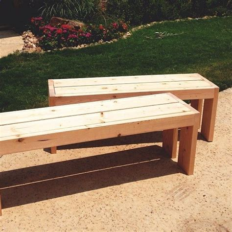 easy to make wooden benches 25 best ideas about outdoor benches on pinterest