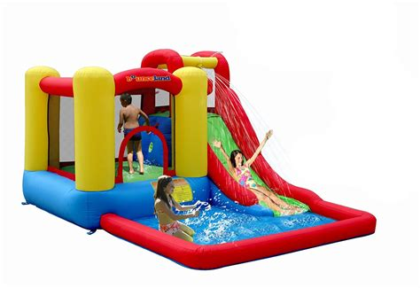 water bounce house bounceland inflatable bouncers jump splash bounce house moonwalk water slides us ebay