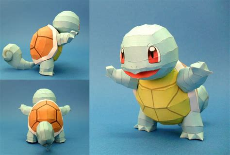 3d Model To Papercraft - squirtle 2 nintendo papercraft