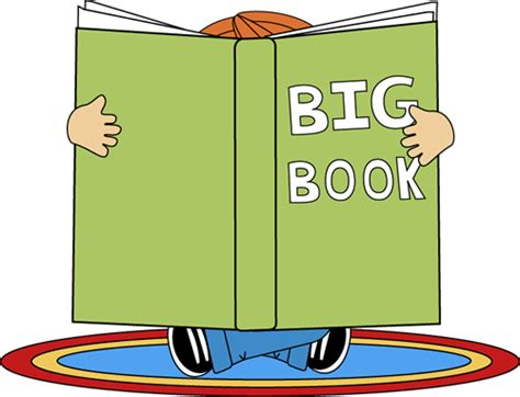 large picture books big book clipart