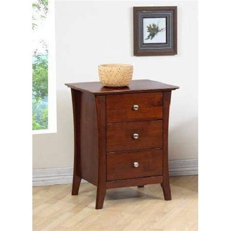 Unfinished Bedroom End Tables Modern Chestnut 3 Drawer Nightstand Is Made Of Solid