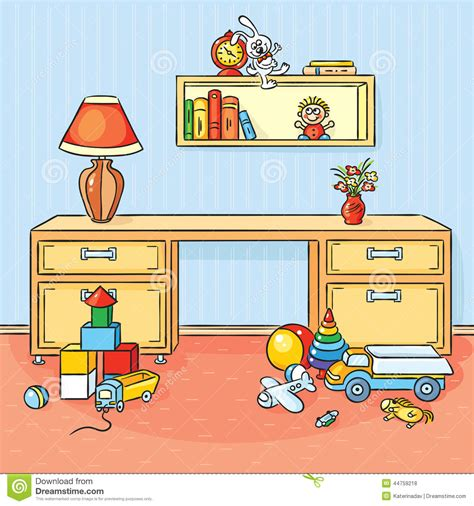 Children Playroom by Children Room With A Lot Of Toys Scattered On The Floor