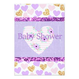 Pink And Purple Baby Shower Invitations by Purple And Gold Baby Shower Invitations Announcements