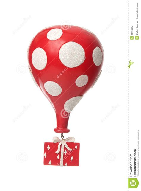Red Balloon Gift Card - red gift with balloon stock photography image 16960012