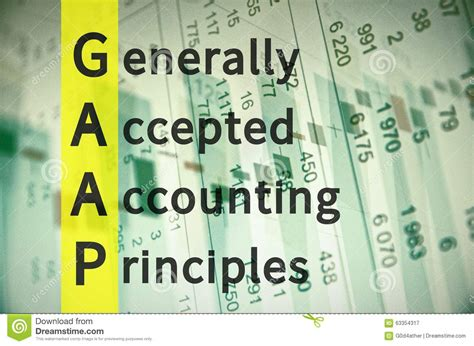 Letter Of Credit Gaap Generally Accepted Accounting Principles Stock Illustration Image 63354317