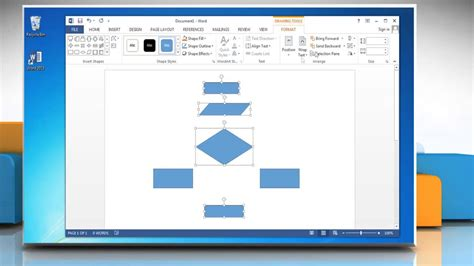 how to create a flowchart in word make a flow chart in microsoft word 2013