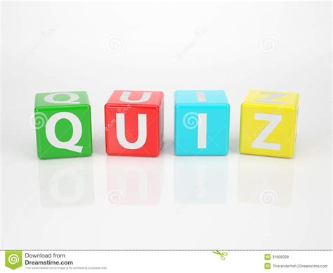 4 Letter Words Quiz quiz out of multicolored letter dices royalty free stock
