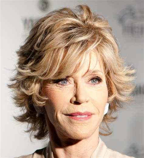 photos of the shag hairstyles for older women short jane fonda s highlighted shag takes her full circle since
