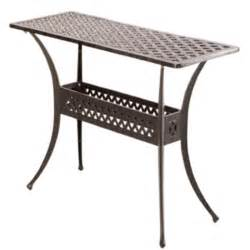 Patio Console Table Alfresco Home Cast Aluminum Outdoor Sideboard Console Table