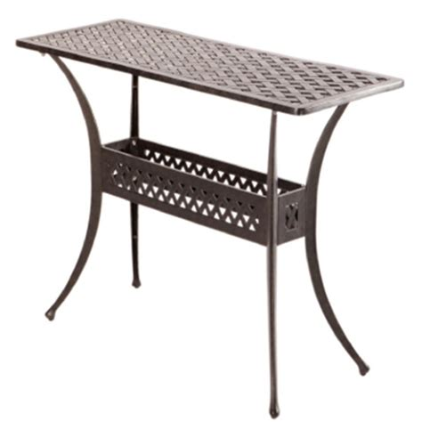 outdoor console table alfresco home cast aluminum outdoor sideboard console table
