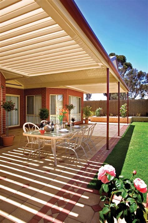 backyard and veranda sunroof stratco outback verandas pergolas patios