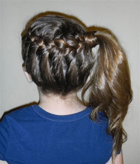 ponytail hairstyles braids side braid to side ponytail beauty hairstyles 2011 braid to