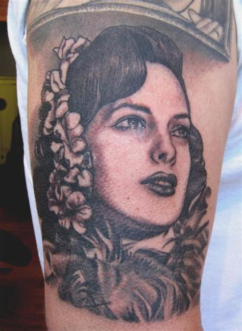 kat von d portrait tattoo vintage portrait design design of