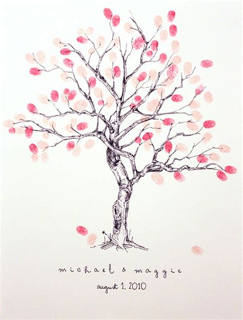 wedding tree guest book free template wedding idea guestbook fingerprint tree meredith