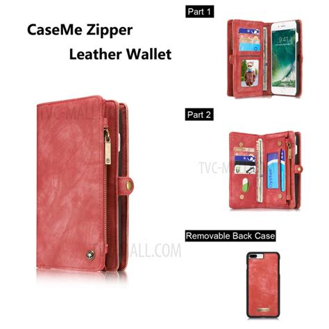 Caseme Iphone 7 Plus Wallet With 13 Slot Card Zipper caseme for iphone 7 plus 14 card slots 2 in 1 zipper wallet split leather cover tvc mall