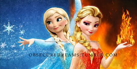 film ana si elsa in romana 2 anna of ice elsa of fire by wolfskyla on deviantart