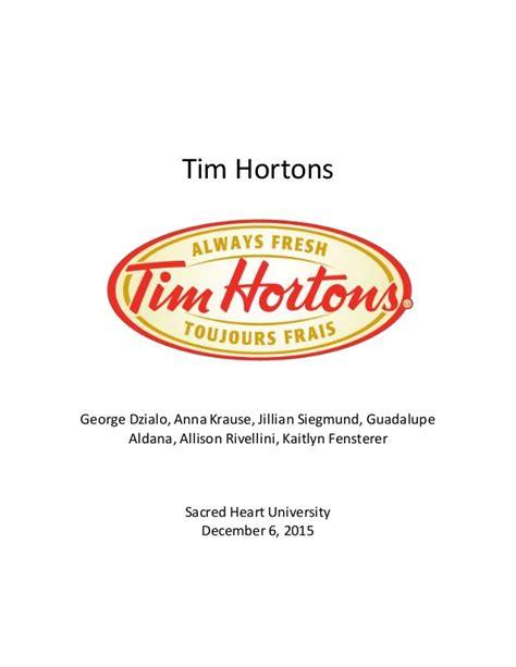 Tim Hortons Mba Program Salary by Tim Hortons International Marketing
