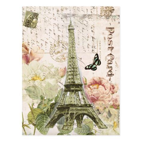 imagenes retro de la torre eiffel vintage french eiffel tower postcard zazzle co uk