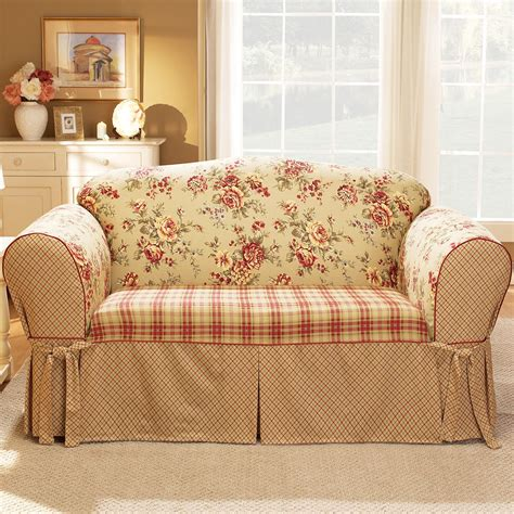 floral sofa slipcovers sure fit sofa slipcovers country floral shop your way