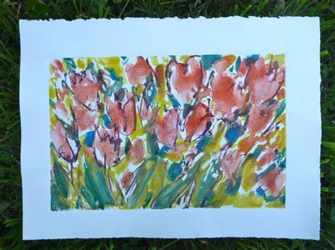 watercolor monoprint tutorial watercolor monoprinting on plexiglass printmaking