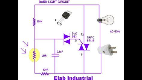 dark light circuit  triac  easy