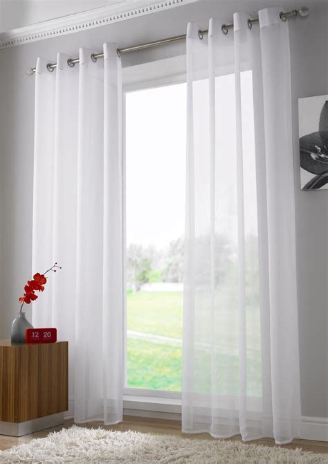 white long curtains white eyelet voile panel extra long from net curtains direct