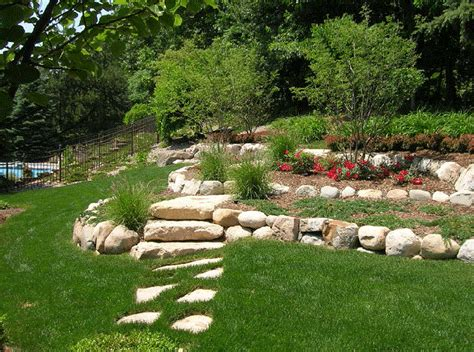 landscape design for hill backyard landscaping ideas with the hill outdoors