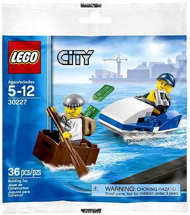 Lego City 30227 Watercraft Polybag Set Cop Robber Boat New lego city watercraft mini set bagged 30227 on sale at toywiz