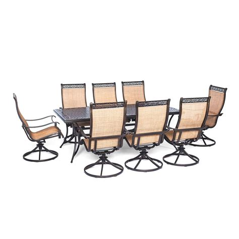patio furniture aluminum somerset 7pc dining set hton bay statesville pewter 7 piece aluminum outdoor