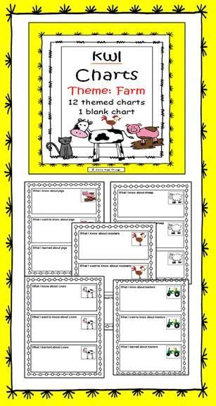 kwl template kwl charts farm work chart and activities