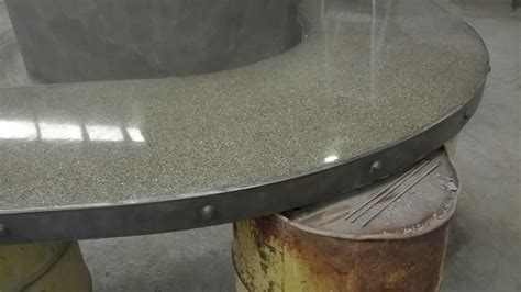 concrete bench top concrete bench top for man cave metal sculpture
