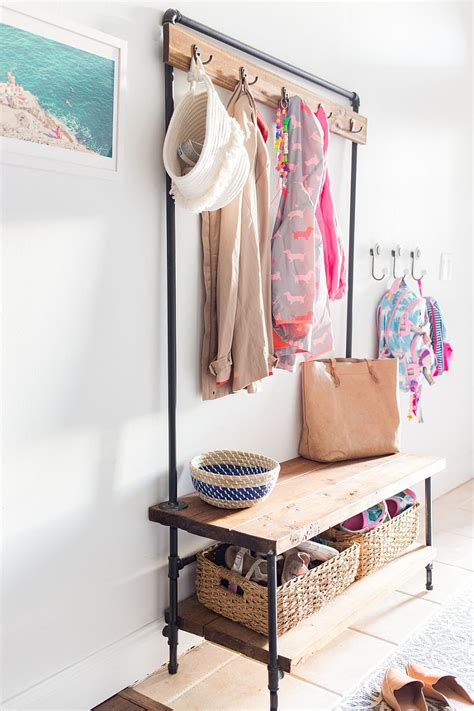 diy entryway an organized welcome diy entryway benches with space