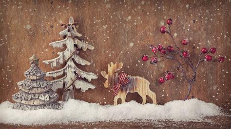 wallpaper christmas  year deer fir tree elk decorations snow holidays