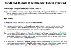 Cognitive Development Essay by St The Apostle Catholic Church Columbus