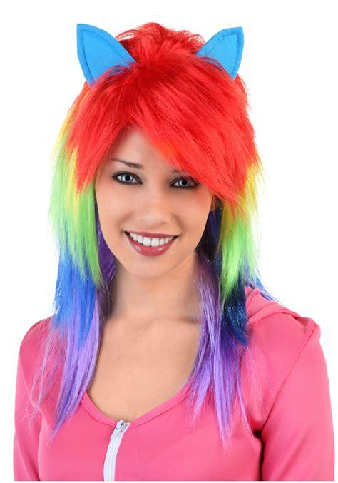 pony wig rainbow pony wig