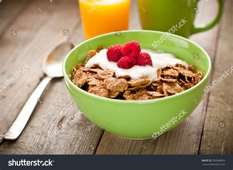 whole grains for breakfast whole grain cereals breakfast stock photo 290086805