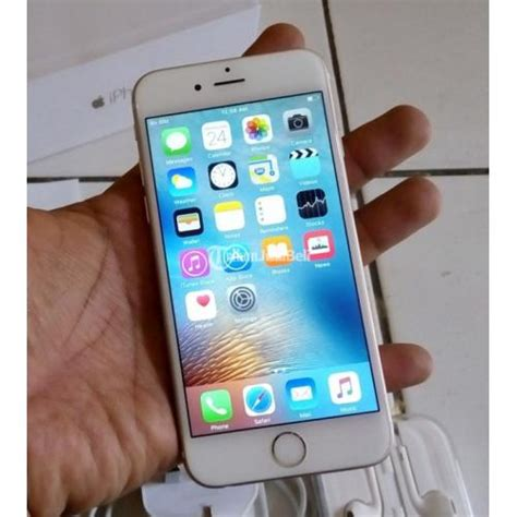 Iphone 6 64gb Mulus Like Baby iphone 6 64gb fungsi normal fullset lengkap warna gold cod jakbar jaksel dijual tribun