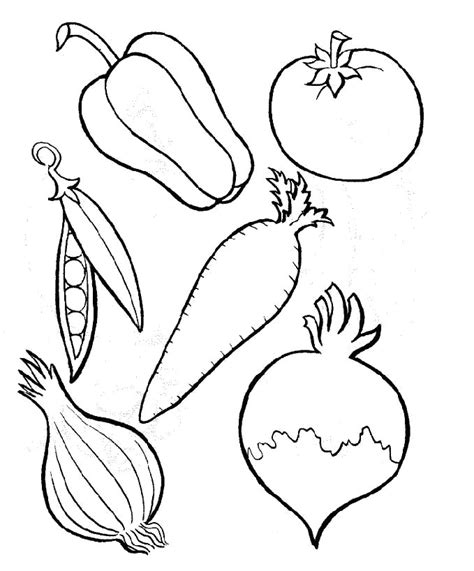 image of vegetables az coloring pages