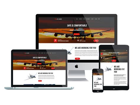 at airus free responsive private airline joomla template