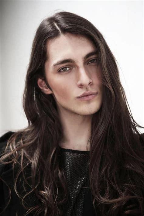 top long haired male models brazilian male model gabriel bin guys long hair long